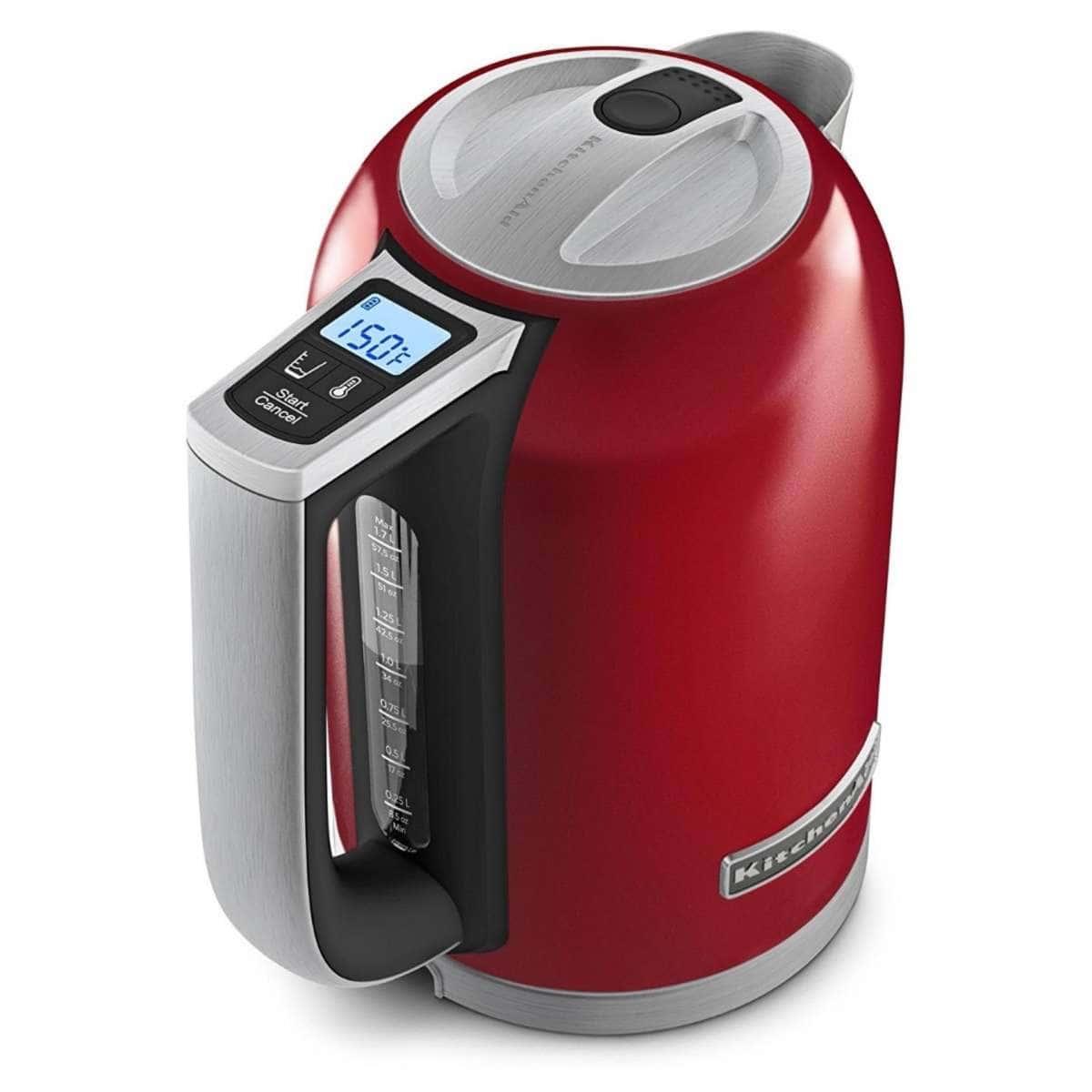 Ấm đun nước siêu tốc điện tử KitchenAid 1,7 lít màu đỏ 5KEK1722EER-02