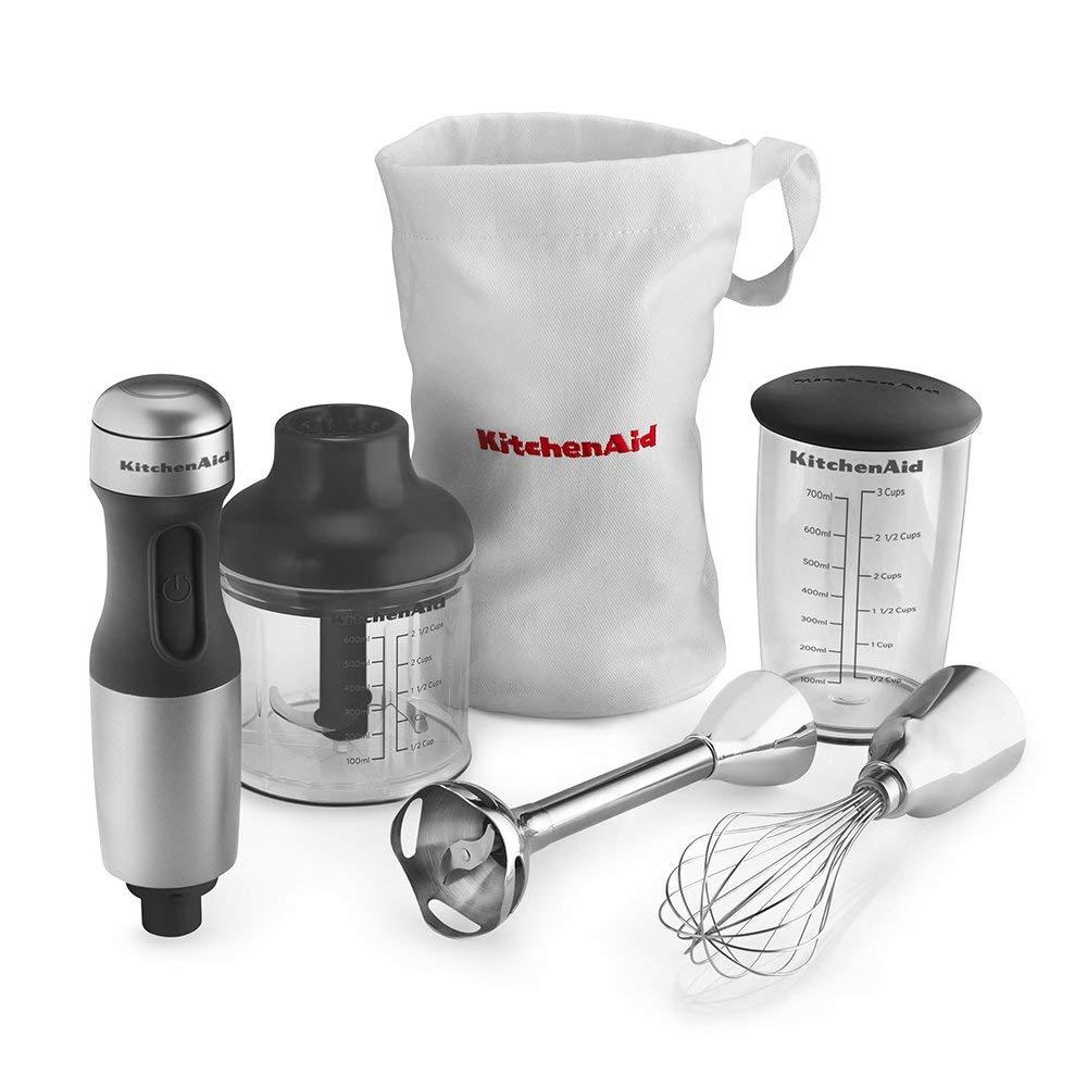KitchenAid KHB2351CU 3-Speed Hand Blender - Contour Silver 1