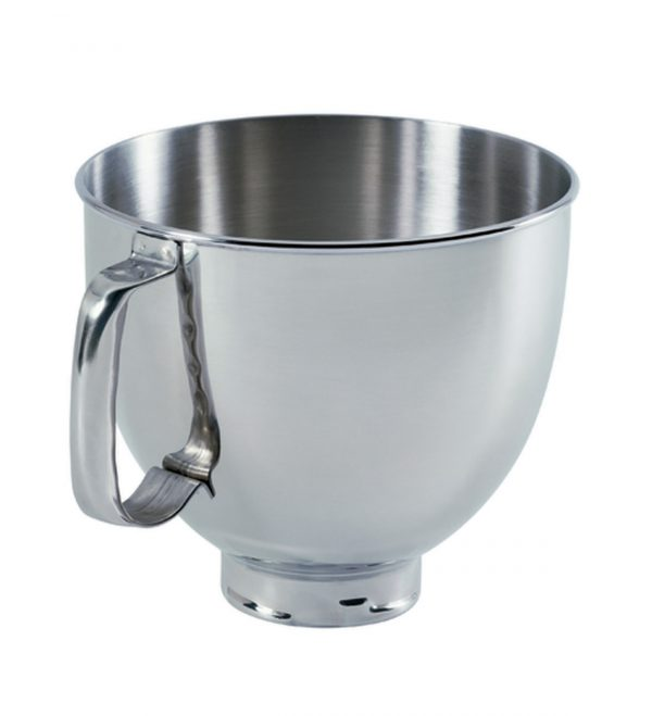 KitchenAid K5THSBP Tilt-Head Mixer Bowl with Handle, Polished Stainless Steel, Polished Stainless Steel, 5-Quart 01