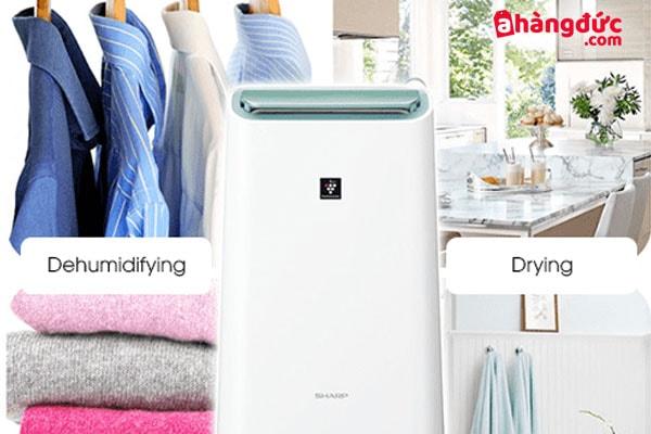 Máy lọc không khí cao cấp có thể hong khô quần áo