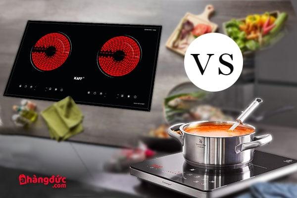 So sánh bếp hồng ngoại và bếp từ