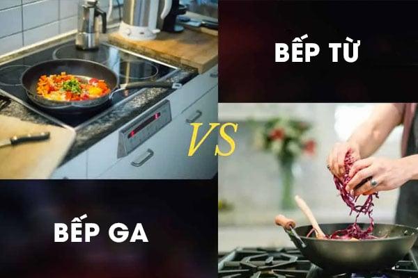 So sánh bếp từ và bếp ga