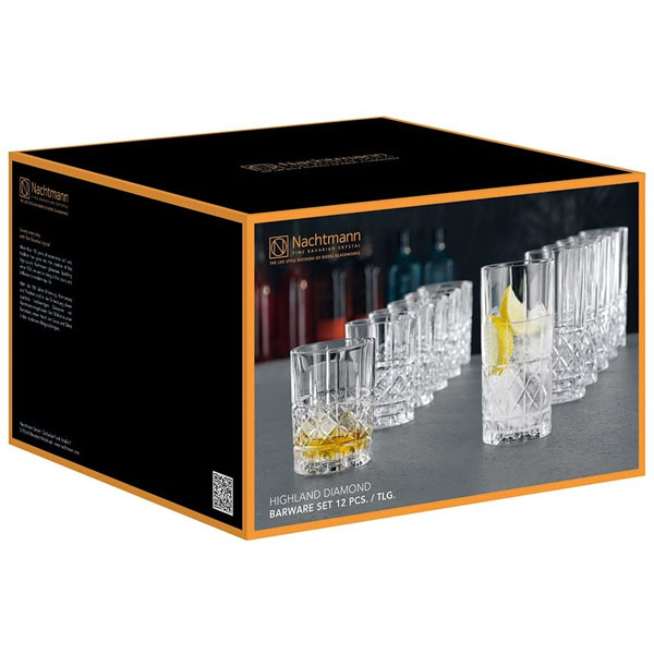 Bộ ly pha lê Spiegelau & Nachtmann Whisky 445/345 ml, 12 chiếc