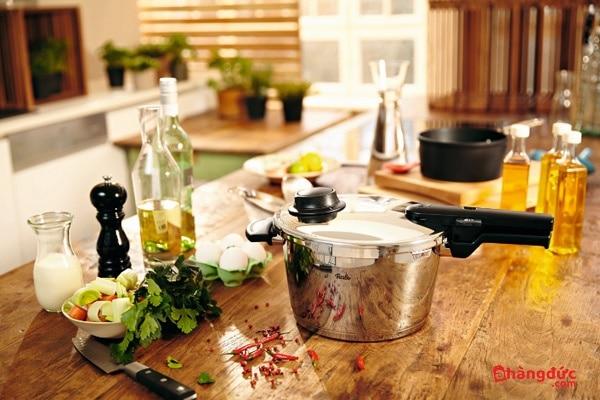 Thời gian nấu ăn bằng nồi áp suất Fissler của Đức