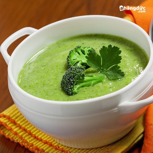 Cháo bông cải xanh và thịt gà