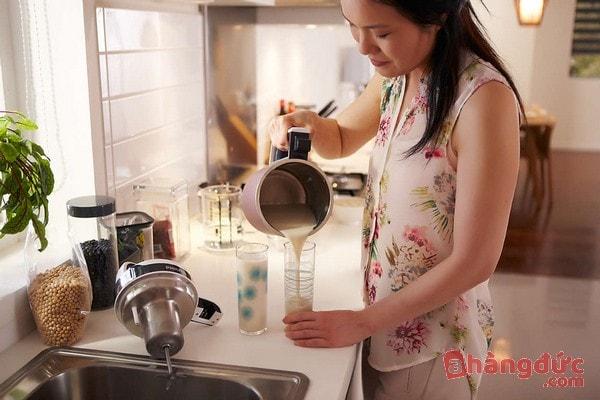 cách sử dụng máy làm sữa đậu nành philips