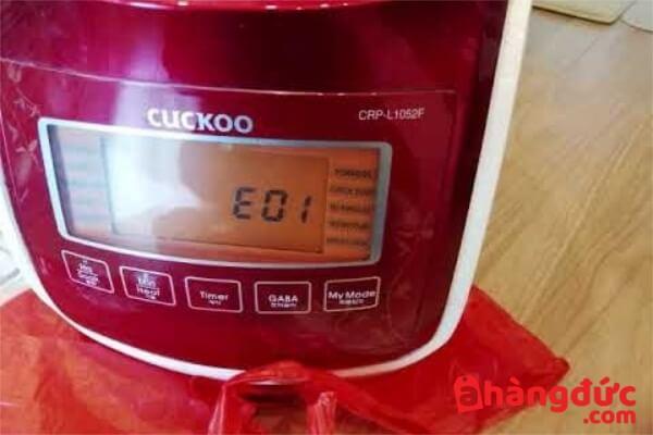 Nồi cơm điện cuckoo báo lỗi E01