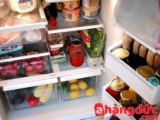 tủ lạnh không lạnh do chứa quá nhiều thực phẩm